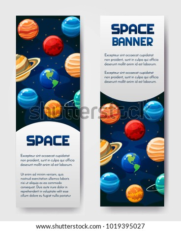 set of 2 vector flyer banner