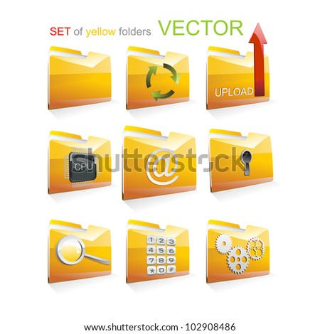 Set of vector folders
