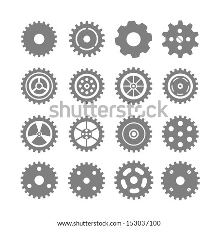 set of vector gears
