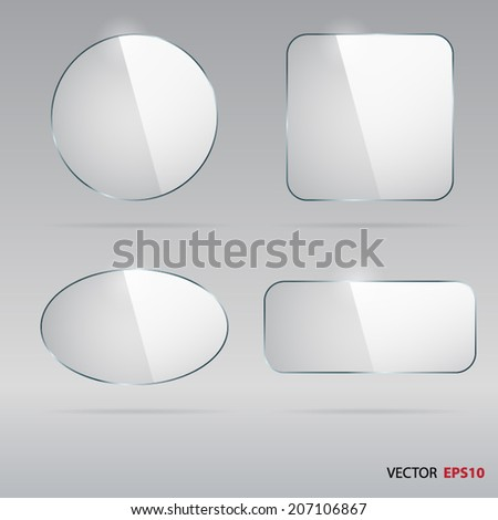 Set of vector glass buttons. #207106867