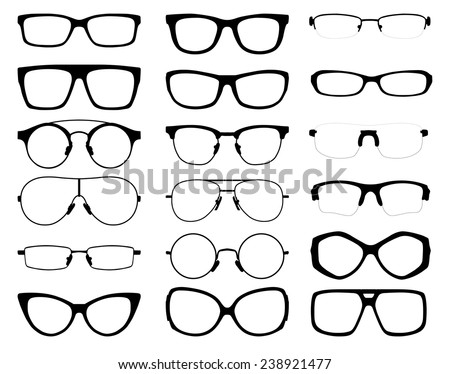 Shutterstock set of vector glasses on white background