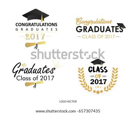 Set Of Vector Graduates Class Of 2017