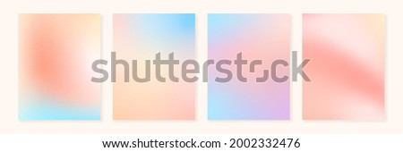 Set of vector grainy gradients in pastel colors. For covers, wallpapers, branding and other projects. You can use a grainy texture for any of the gradients.