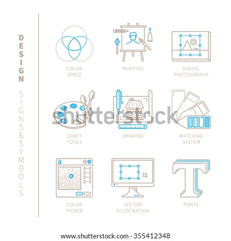 set of vector graphic design