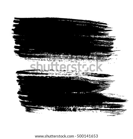 Set of vector grunge background. Vector brush strokes
