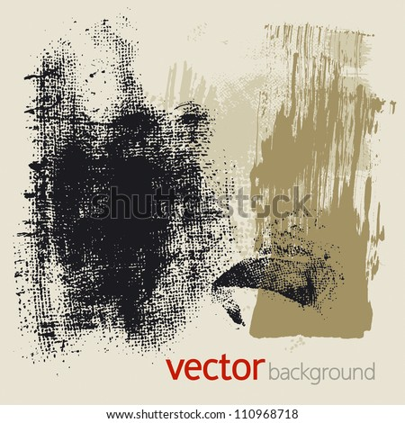 Set of vector grunge elements