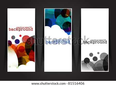 Set of vector headers & banner collections design element.