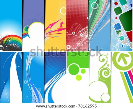 set of vector headers collections - stock vector