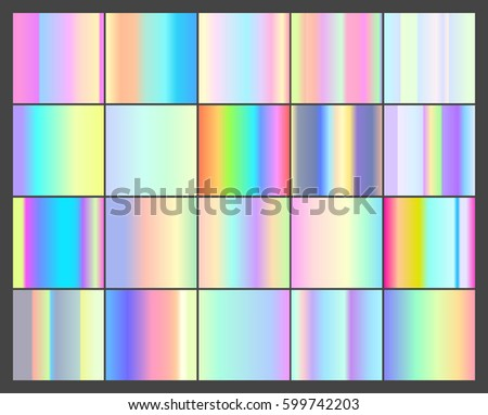 set of vector 20 holographic