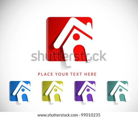 set of vector home icon design with isolated on white.