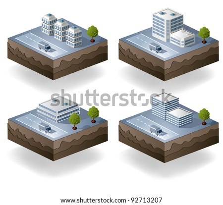 Set of vector icons - city theme