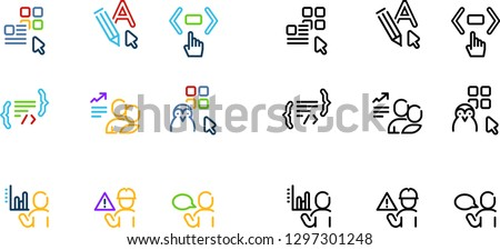 set of vector icons differents