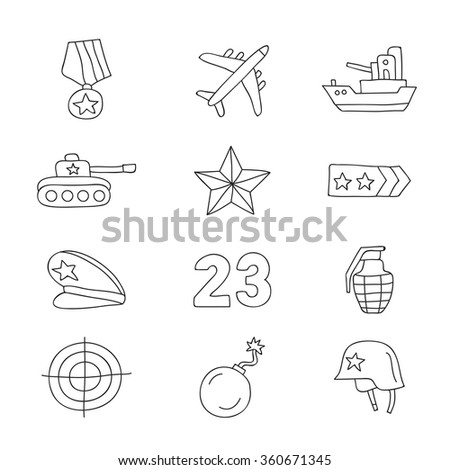 set of vector icons fatherland