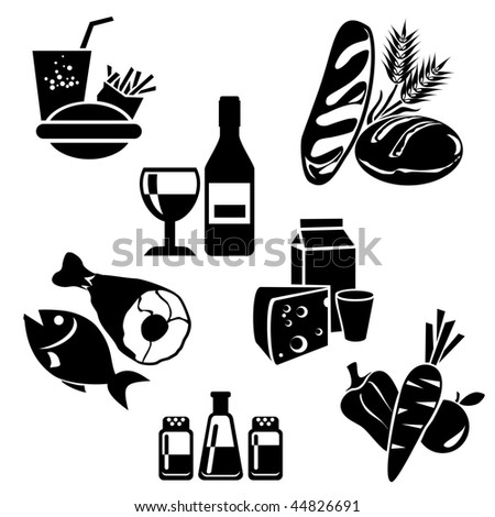 set of vector icons of food for your design