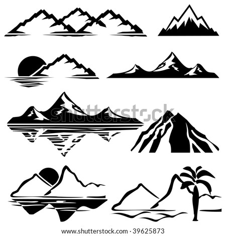 set of vector icons of