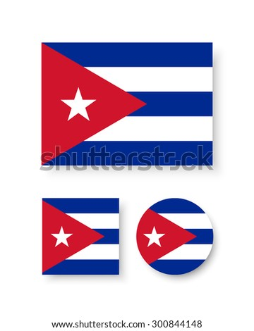 set of vector icons with cuba