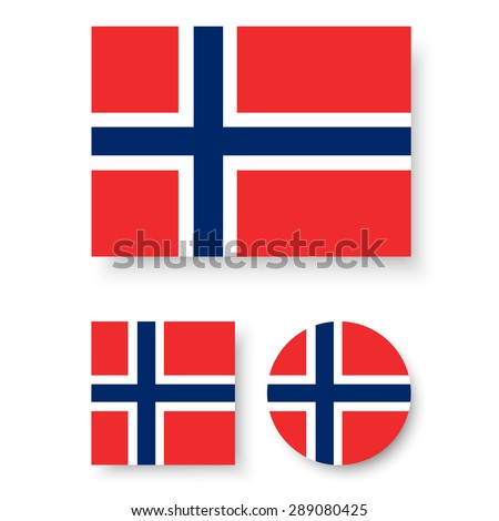 set of vector icons with norway