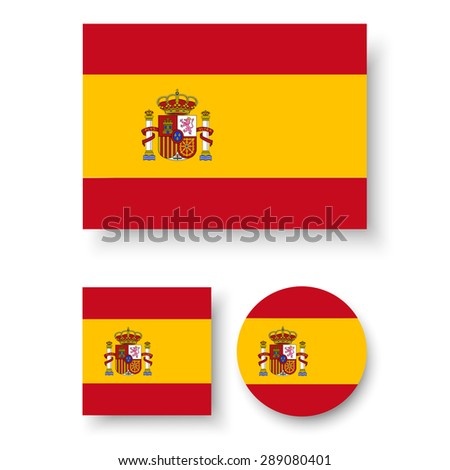 set of vector icons with spain