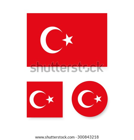 set of vector icons with turkey