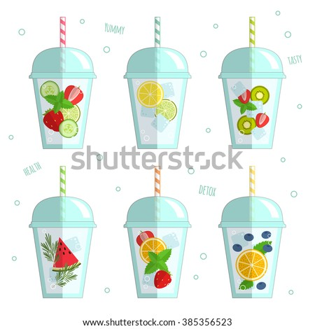 set of vector illustration of