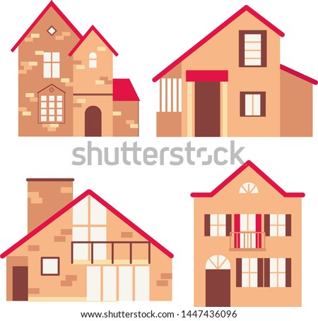 set of vector illustrations of