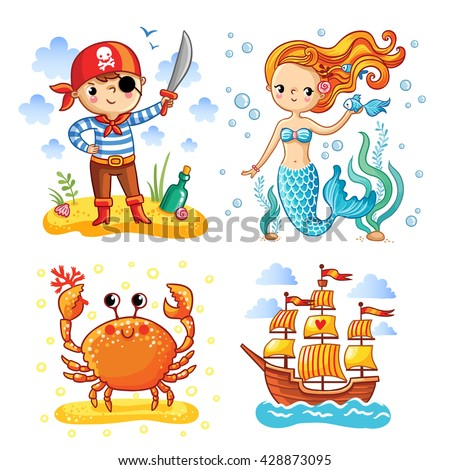 set of vector illustrations on