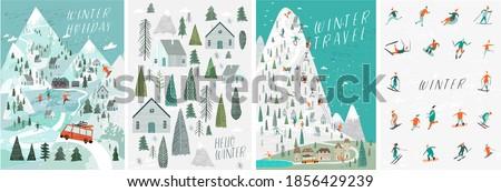 set of vector illustrations