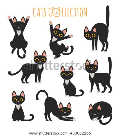 set of vector images of cute