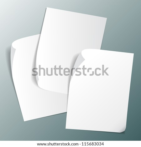 set of vector images of paper stickers