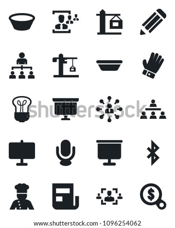 set of vector isolated black