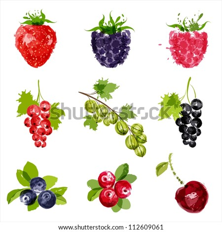 set of vector juicy ripe