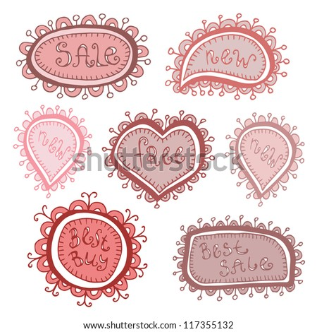 Set of vector labels - stock vector
