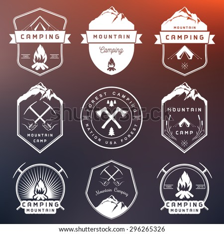 set of vector logos and badges