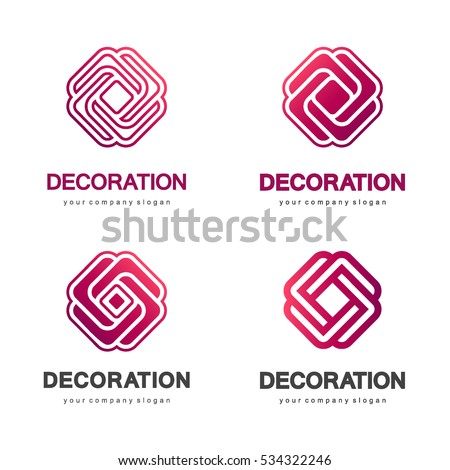 set of vector logos for