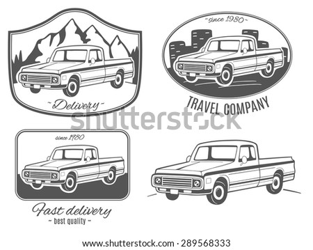 set of vector logos with pickup