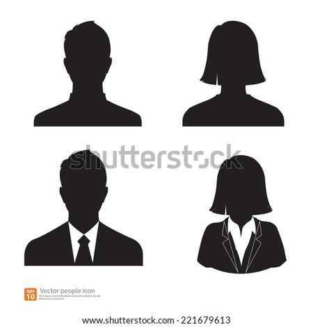 set of vector men and women