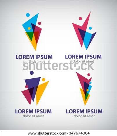 set of vector men logos  human...