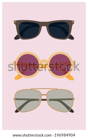 set of vector modern flat