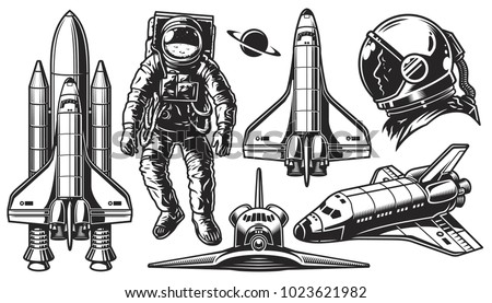 set of vector monochrome of