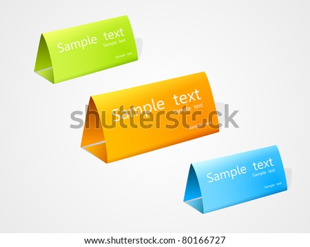 set of vector multicolored nameplate. EPS10.