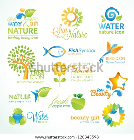 Set of vector nature icons