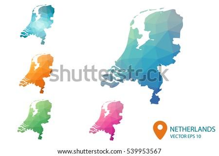 Netherlands Map Vector Download Free Vector Art Stock Graphics