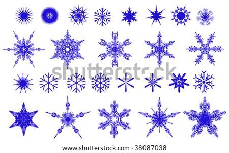 Set of vector ornament stars - stock vector