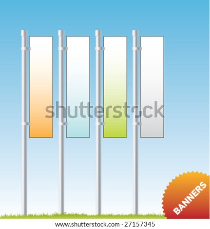 Set of vector outdoor advertising [Banners]