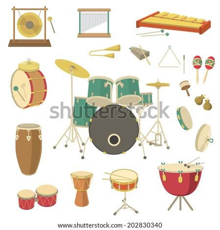 set of vector percussion