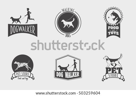 set of vector pet shop or store ...