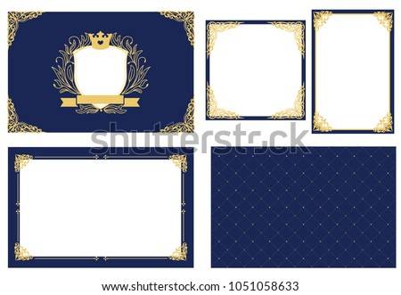 set of vector picture frame