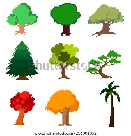set of vector pixel trees