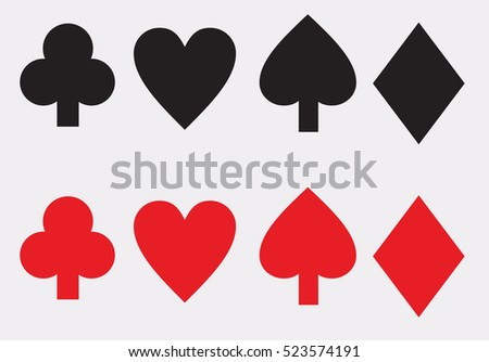 Casino Background With Playing Cards Symbols Download Free Vector