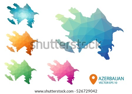 Free Azerbaijan Map Vector Download Free Vector Art Stock - Azerbaijan maps with countries
